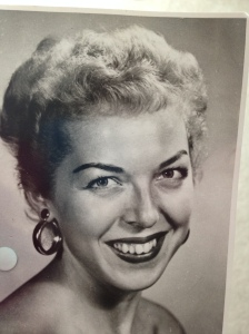 Publicity shot from when my mother had a TV show out in California, mid-1950s before I was a gleam in her eye.