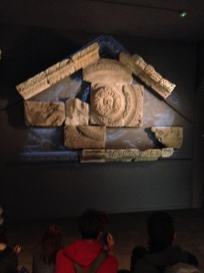Benevolent Gorgon's face in partially reconstructed frieze. Very iconic image for this site.