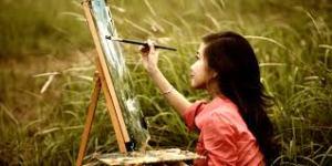 Brandy as painter
