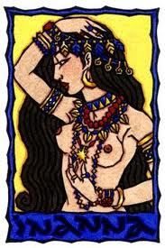 Pagan priestess in full possession of her power and her sexuality.