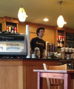 Friendly barista.