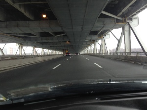 Crossing the GW bridge.