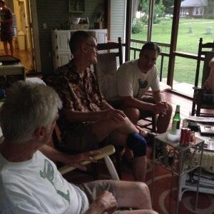 Porch schmoozing. #cousins