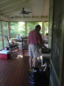 Bacon gets made on the porch. #itsarule