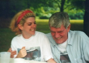 Best laughter pic from any reunion. 1996, my sister and my dad. #outofcontrol #laughtillyoucry