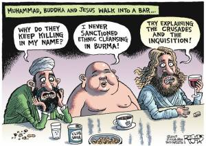 No disrespect intended to anyone. This cartoon just fits too darned well with my blog.