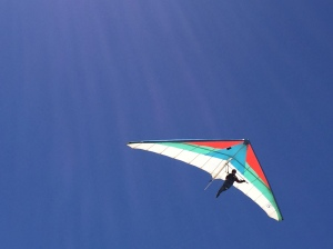 Saw this at Monterey beach as I drove in from the north. A man in flight. That's on my bucket list.